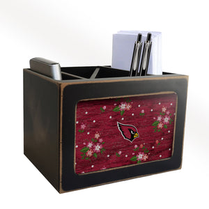 Arizona Cardinals Floral Desktop Organizer