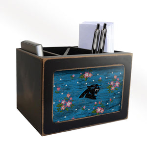 Carolina Panthers Floral Desktop Organizer