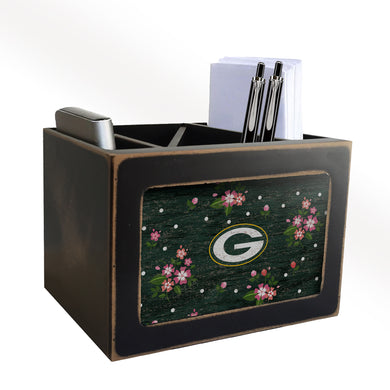 Green Bay Packers Floral Desktop Organizer