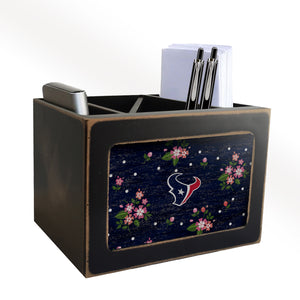 Houston Texans Floral Desktop Organizer