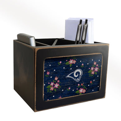 Los Angeles Rams Floral Desktop Organizer