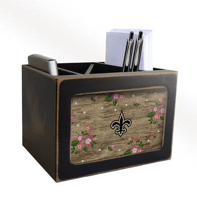 New Orleans Saints Floral Desktop Organizer