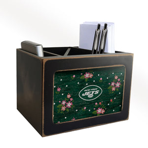 New York Jets Floral Desktop Organizer