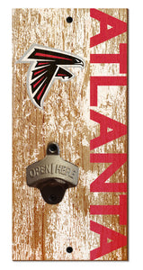 Atlanta Falcons Distressed Bottle Opener