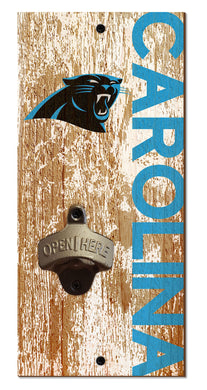 Carolina Panthers Distressed Bottle Opener