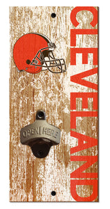 Cleveland Browns Distressed Bottle Opener