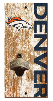 Denver Broncos Distressed Bottle Opener