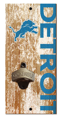 Detroit Lions Distressed Bottle Opener
