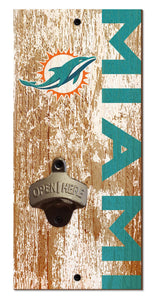 Miami Dolphins Distressed Bottle Opener
