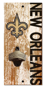 New Orleans Saints Distressed Bottle Opener