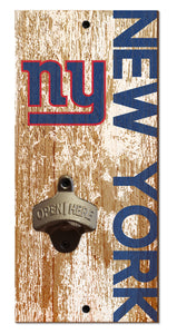 New York Giants Distressed Bottle Opener