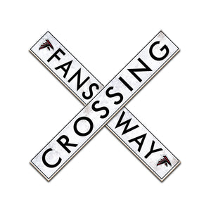Atlanta Falcons Fans Way Crossing Wall Art - 24""