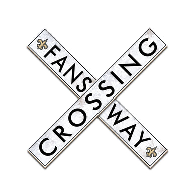 New Orleans Saints Fans Way Crossing Wall Art