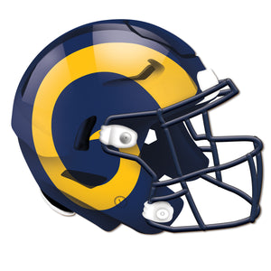 Los Angeles Rams Authentic Helmet Cutout
