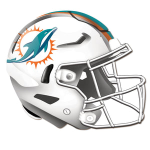 Miami Dolphins Authentic Helmet Cutout -12""