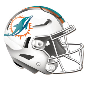Miami Dolphins Authentic Helmet Cutout