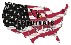 Arizona Cardinals USA Shape Flag Cutout