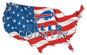 Buffalo Bills USA Shape Flag Cutout