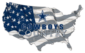 Dallas Cowboys USA Shape Flag Cutout
