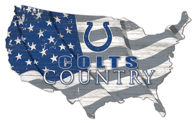 Indianapolis Colts USA Shape Flag Cutout