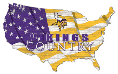 Minnesota Vikings USA Shape Flag Cutout
