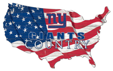 New York Giants USA Shape Flag Cutout