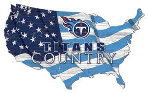 Tennessee Titans USA Shape Flag Cutout
