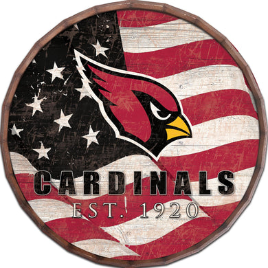 Arizona Cardinals Flag Barrel Top