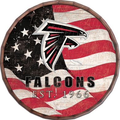 Atlanta Falcons Flag Barrel Top
