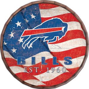 Buffalo Bills Flag Barrel Top