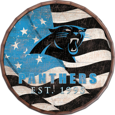 Carolina Panthers Flag Barrel Top