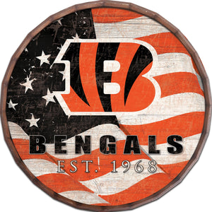 Cincinnati Bengals Flag Barrel Top