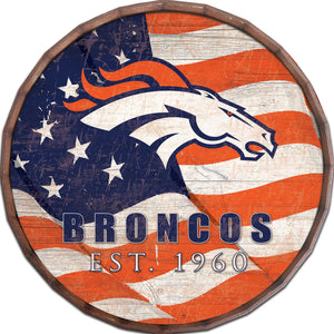 Denver Broncos Flag Barrel Top