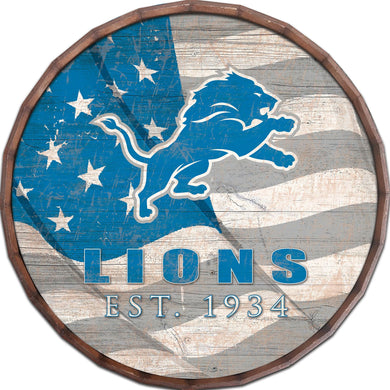 Detroit Lions Flag Barrel Top