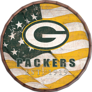 Green Bay Packers Flag Barrel Top