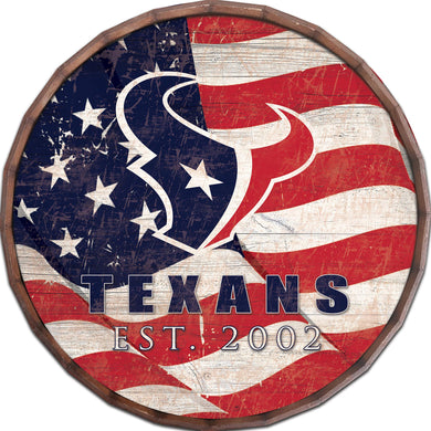 Houston Texans Flag Barrel Top