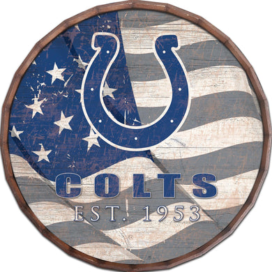 Indianapolis Colts Flag Barrel Top