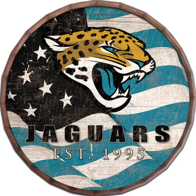 Jacksonville Jaguars Flag Barrel Top