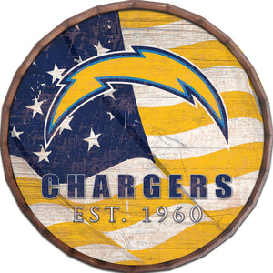 Los Angeles Chargers Flag Barrel Top