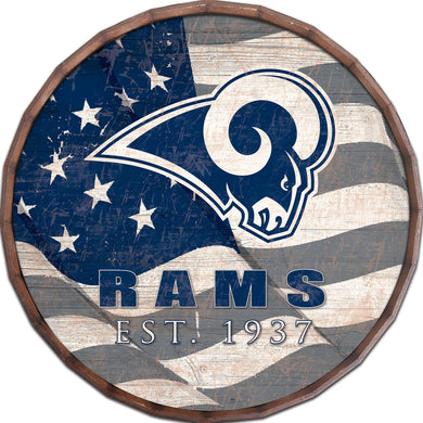 Los Angeles Rams Flag Barrel Top