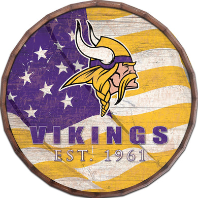 Minnesota Vikings Flag Barrel Top