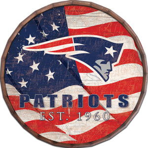 New England Patriots Flag Barrel Top
