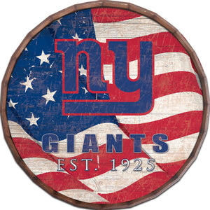 New York Giants Flag Barrel Top