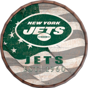 New York Jets Flag Barrel Top