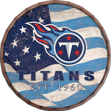Tennessee Titans Flag Barrel Top
