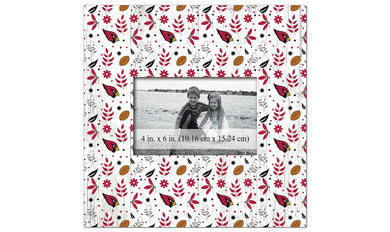 Arizona Cardinals Floral Pattern Picture Frame