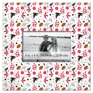 Atlanta Falcons Floral Pattern Picture Frame