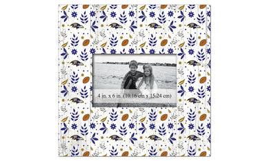 Baltimore Ravens Floral Pattern Picture Frame