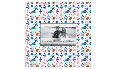 Buffalo Bills Floral Pattern Picture Frame