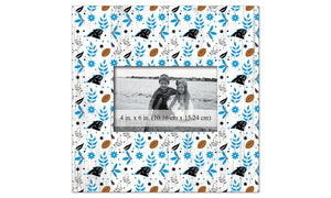 Carolina Panthers Floral Pattern Picture Frame